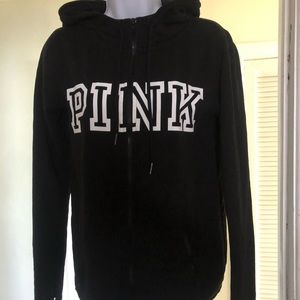 Pink brand zip up hoodie